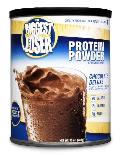 DESIGNER WHEY The Biggest Loser Protein Powder Supplement, Chocolate Deluxe, 10-Ounce Canister