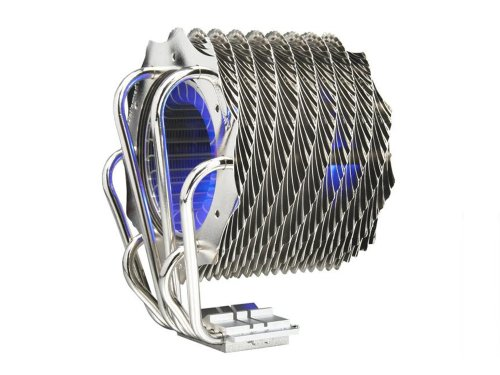 Thermaltake CL-P0466 SpinQ Quiet Copper Heatpipe Univrsal CPU Cooler with Blue LED for Intel LGA 775 and AMD AM2 (Cooler Master V6 compare prices)