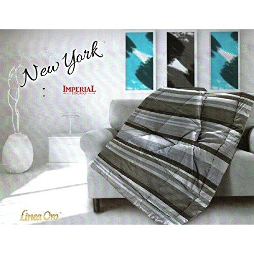 PLAID TRAPUNTATO 130X160 NEW YORK - BLU
