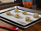 SimpliFine Silicone Baking Mat Set, 3 Different Silicone Baking Mats for Half, Quarter and Small Oven Sheet Sizes. Reduce Calories and Bake Healthier with this Eco-Friendly Oven Baking Liner, Best for Quick and Easy Clean Up - Makes A Great Gift