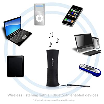 Portable Wireless Bluetooth Speaker + Power Bank External Battery Charger for Cell Phone, Car, Indoor and Outdoors - Best Sound PLUS Powerful Charging for iPhone, Android, Galaxy, Tablet, MP3 and more