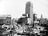1925 Detroit Michigan Downtown Campus Martius Historical Photograph- Reprint 8x10