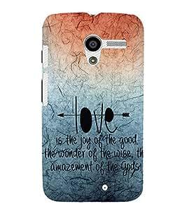 EPICCASE creation of god Mobile Back Case Cover For Moto X (Designer Case)