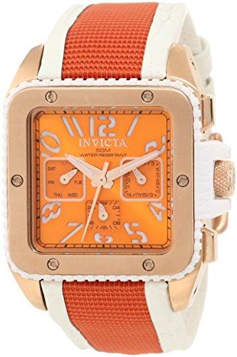 Invicta Women's 11582 Cuadro Orange Dial and Orange Nylon Watch