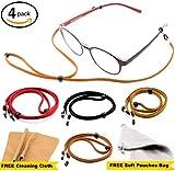 Eyeglass Strap Chain [Pack of 4 + Bonuses] - Eyeglass Holder - Glasses Lanyard- Eyeglasses Holder   Cord   Retainer