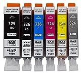 [ ZAZ ] CANON BCI-326+325/6MP キャノン プリンター用 互換インク 6色セット ICチップ付き [ZAZブランドオリジナル] [ FFPパッケージ(L)]