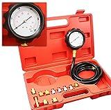 500psi 13pc Engine Oil Pressure Tester Gauge Diagnostic Test Kit w Case