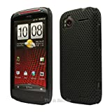 Black Mesh Hard Case Cover For HTC Sensation XE / Sensation / Sensation 4G