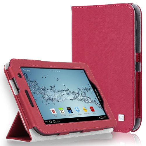 CaseCrown Bold Trifold Cover Case (Hot Pink) for Samsung Galaxy Tab 2 7.0