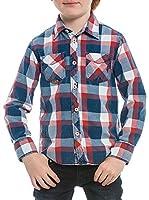 M C S Camisa Niño Checked (Azul / Rojo)
