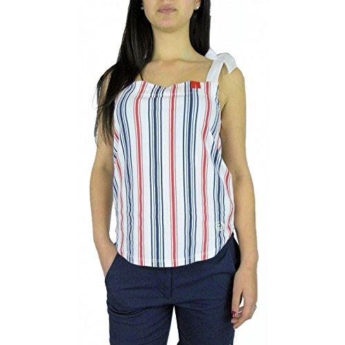 T-shirt donna EA7 EMPORIO ARMANI, top rigato, art: 283870 6P654 (L)