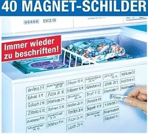 40 Magnetschilder für Gerfiertruhe oder Terminplaner