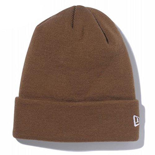 (ニューエラ)New Era ニットキャップ カフ ニット帽 ベーシック 11120498 ブラウン/ホワイト BASIC CUFF KNIT