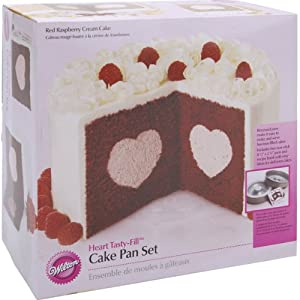 Tasty-Fill Cake Pan Set-Heart 8.25 -Inch by 2.25-Inch