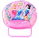 Disney Princess Kids Pink Folding Mini Saucer Chair K314715