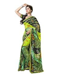 FadAttire Georgette Chiffon Printed Saree With Blouse FAPKS19
