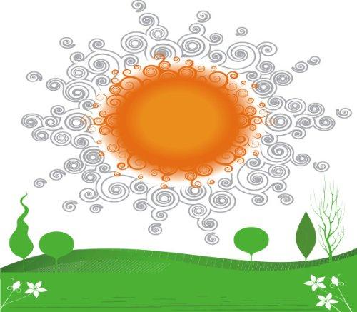 Imagen 1 de Etiqueta de la pared multicolor MD468 hermoso sol de la Mañana 120 x 102 cm