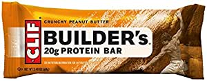 CLIF BUILDER'S - Protein Bar - Crunchy Peanut Butter - (2.4 oz, 12 Count)