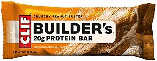 Clif Bar CLIF BUILDER'S - Protein Bar - Crunchy Peanut Butter - (2.4 oz, 12 Count)