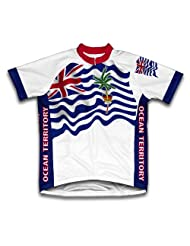 British Indian Ocean Territory Flag Short Sleeve Cycling Jersey for Women