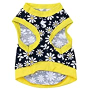 Small Dog Shirt, Voberry? Fashion Summer Pet Dog Girls Flowers T-shirt (M, Yellow)