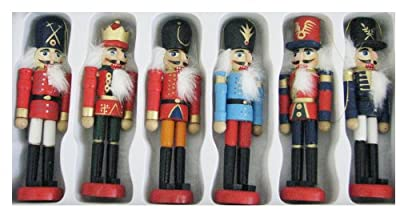 Kurt Adler Wooden Nutcracker Ornament Set