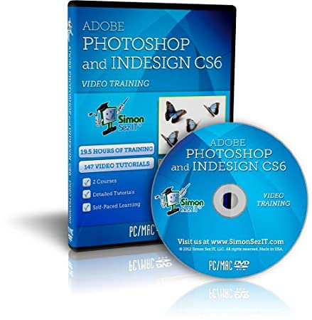Learn Adobe Photoshop CS6 and InDesign CS6 Training Video Tutorial DVD