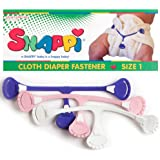 Snappi Cloth Diaper Fasteners - Pack of 3 (Pink, Purple, White)