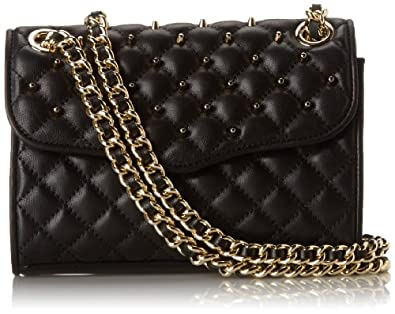 Rebecca Minkoff Quilted Mini Affair Cross Body With Studs,Black,One Size