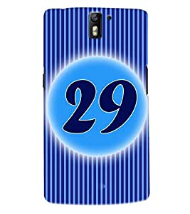 Fuson 3D Printed Numerology Designer back case cover for OnePlus One - D4250