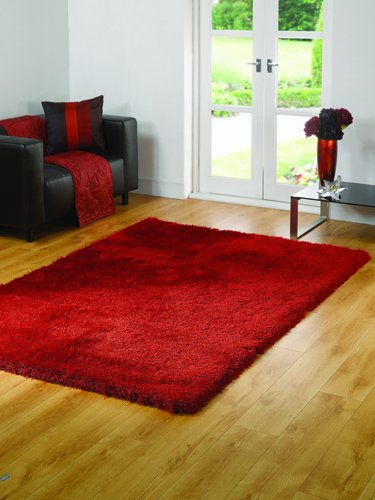 Santa Cruz Summertime Red Contemporary Rug Size: 110cm x 60cm (3 ft 7.5 in x 1 ft 11.5 in)