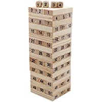 Tootpado Tumbling Tower 54 Wooden Building Block Party Games (20.5 Cm Tall) - Toys Drinking Game Educational Games...