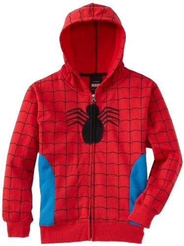 Marvel Comics Mens Spiderman Costume Hoodie Spidey Suit On (Small)