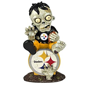 NFL Pittsburgh Steelers Zombie On Logo Figurine by Forever Collectibles