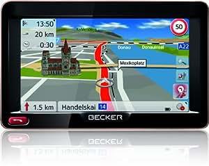 Becker Ready 50 EU20 LMU Navigationsgerät (12,7 cm (5 Zoll) Display, 20 Länder Europas, Lebenslange Kartenupdates, HQ TMC) schwarz/mokka-metallic