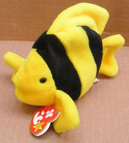 TY Beanie Babies Bubbles the Fish Plush Toy Stuffed Animal - 1