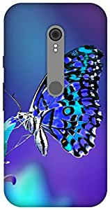 The Racoon lovely butterfly night hard plastic printed back Case for Motorola Moto G Turbo