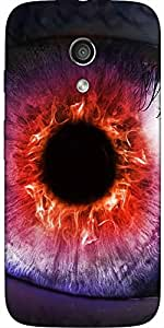 Snoogg The Eye Of The Storm Case Cover For Moto-G / Motorola G