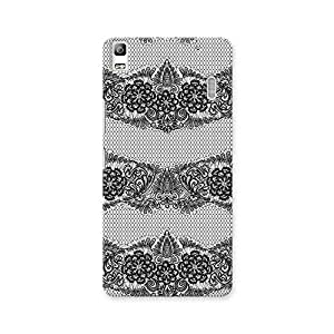 ArtzFolio Black Lace : Lenovo K3 Note Matte Polycarbonate ORIGINAL BRANDED Mobile Cell Phone Protective BACK CASE COVER Protector : BEST DESIGNER Hard Shockproof Scratch-Proof Accessories