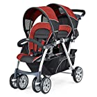 New Love Chicco Cortina Together Double Stroller with Fully-Reclining Rear Seat (Element)