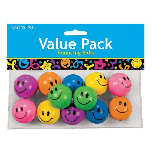 Smile Face Bouncing Balls