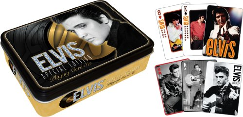 Elvis Gold Playing Card Gift Tin