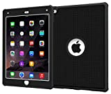 iPad Air 2 Case - roocase VersaTough Orb System iPad Air 2 2014 Case PC / TPU Hybrid Military Armor Case with Built-in Screen Protector for iPad Air 2 (2014) 6th Generation Latest Model, Granite Black