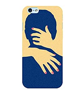 printtech Naughty Hands Face Back Case Cover for Apple iPhone 6 Plus