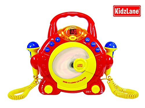 Kids Portable Sing Along Cd Player With 2 Microphones back-753607