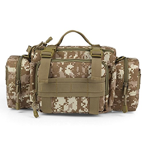 YAAGLE Outdoor Hüfttasche 3P Nylon Schultertasche Kuriertasche Umhängetasche Freizeit Reisetasche Sporttasche-Tarnung 1