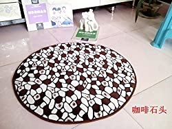 New New 2016 Round Mats Soft Cozy Coral carpet Computer chair Cushion Child Rug Doormat pet rug Yoga Mat 16 styles 6 45x450cm