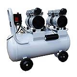 静音 コンプレッサー 2馬力(1.5kW) 静音仕様(58db) オイルレス 50L ダブルピストン ホワイト