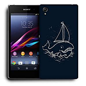 Snoogg Boat Whale Designer Protective Back Case Cover For SONY XPERIA Z1 L39H