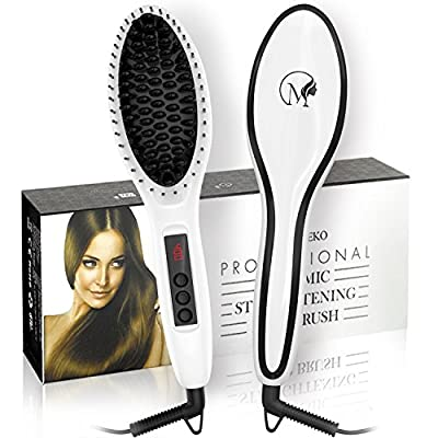 Magnifeko Hair straightening Brush Professional Comb Ceramic straighter for hair styling